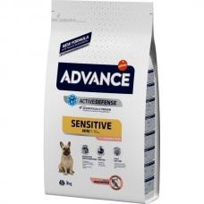 Advance Mini Sensitive sausas maistas su lašiša ir ryžiais šunims