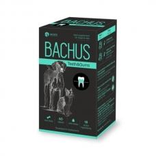 BACHUS TEETHS&GUMS 60 tab papildai šunų ir kačių dantims
