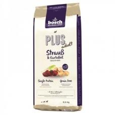Bosch Plus Adult Ostrich & Potato sausas begrūdis maistas su strutiena ir bulvėmis suaugusiems šunims