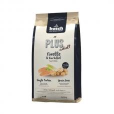 Bosch Plus Adult Trout & Potato sausas begrūdis maistas su upėtakiu ir bulvėmis suaugusiems šunims