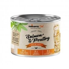 CHICOPEE CAT SALMON AND POULTRY 195 G konservai katėms