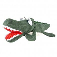 Duvo plius Plush alligator jaw Green/white minkštas žaislas šunims