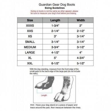 GUARDIAN GEAR ALL WEATHER DOG BOOTS bateliai šunims 10