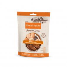 Nature's Variety CHICKEN SUPERFOOD SNACKS 85 g skanėstai šunims su vištiena ir kokosu