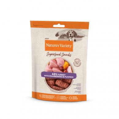 Nature's Variety TURKEY SUPERFOOD SNACKS 85 g  skanėstai šunims su kalakutiena