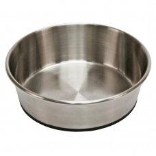 Kerbl STAINLESS STEEL BOWL NON-SLIP nerūdijanąčio plieno dubenėlis šunims su pagumuotu dugnu