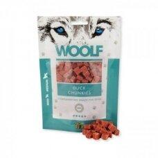 WOOLF DUCK CHUNKIES 100 G antienos skanėstai šunims