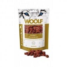 WOOLF RABBIT CHUNKIES 100 G triušienos skanėstai šunims
