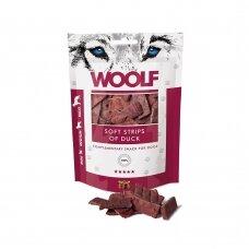Woolf Soft Strips of Duck 100 g antienos juostelės skanėstai šunims